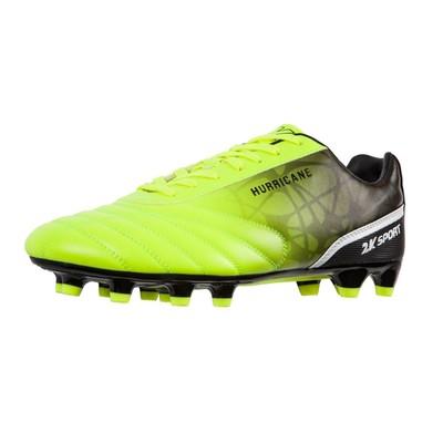 Футбольные бутсы 2K Sport Hurricane FG, lime/black, размер 42