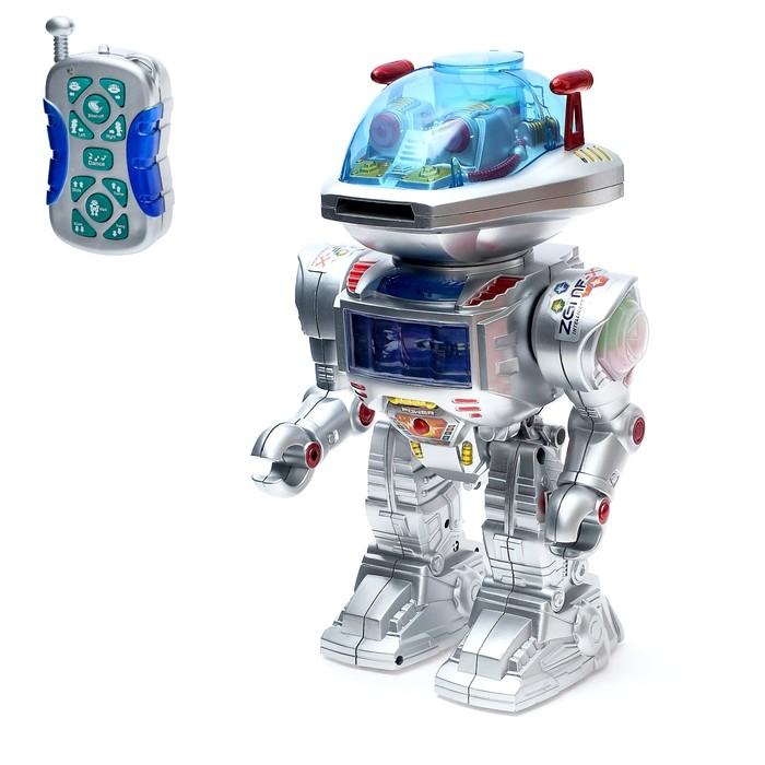 """Робот радиоуправляемый """"Интеллектуальный"""", работает от батареек, световые и звуковые эффекты, русский чип"""