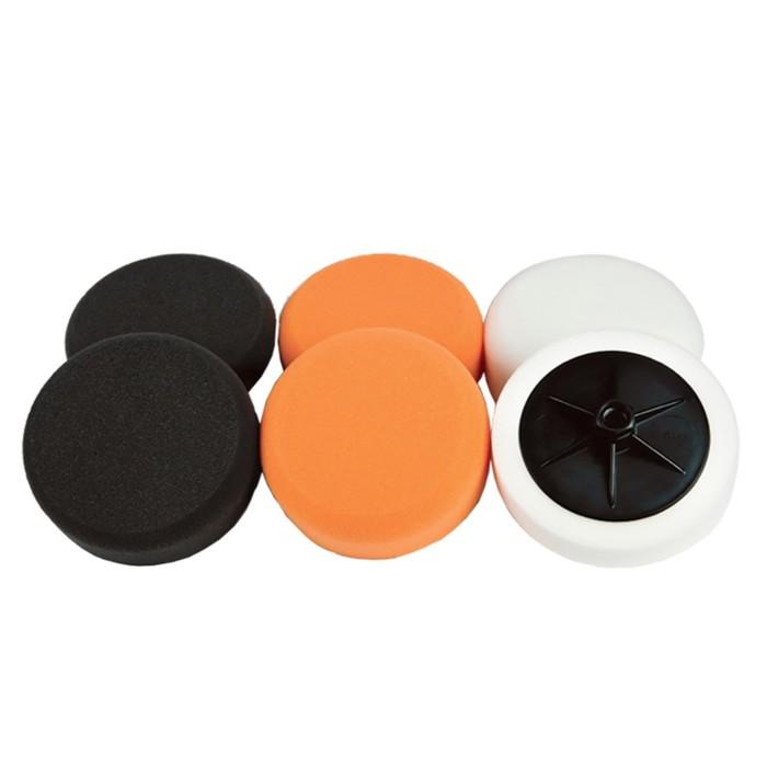 Полировальный круг CHAMAELEON, на липучке, оранжевый, 150 х 25 мм, жесткий