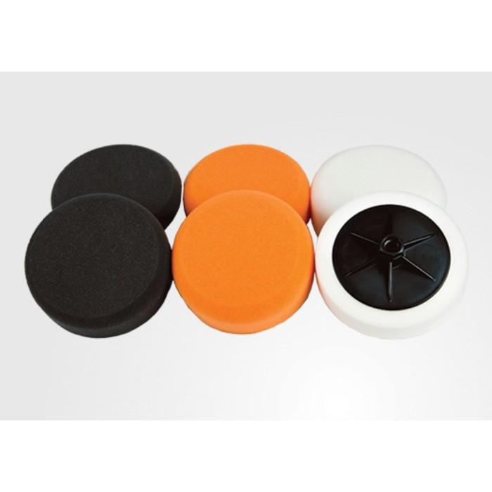 Полировальный круг CHAMAELEON, рифленый на липучке, оранжевый, жесткий