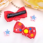 "Hair clip ""Bow decor"" 4.5 cm Daisy mix"