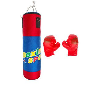 "A set of Boxing ""Young boxer"": a pear, 2 gloves"