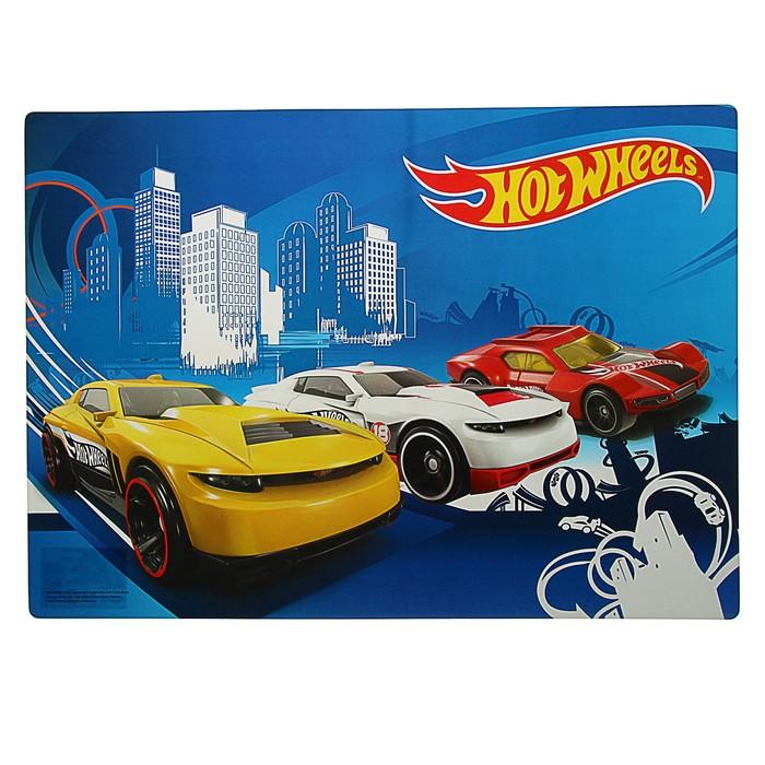Накладка на стол для творчества пластиковая 420*297 Hot Wheels