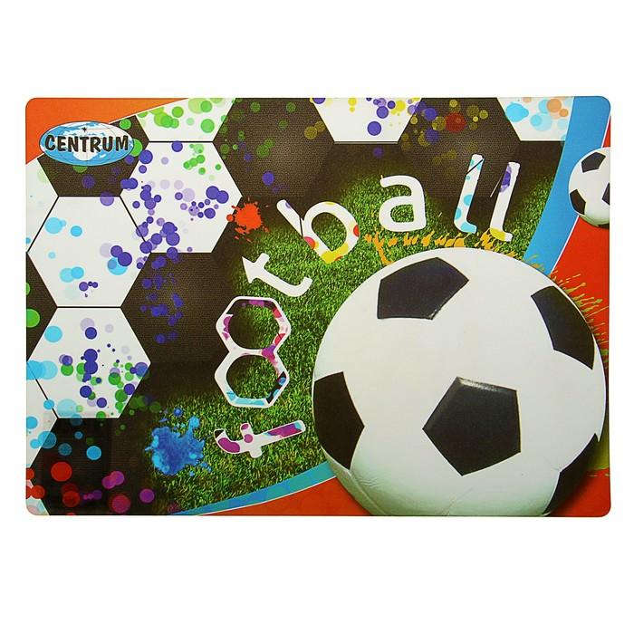 """Накладка на стол дизайнерская """"Футбол"""" А4+, 34 х 24 см"""