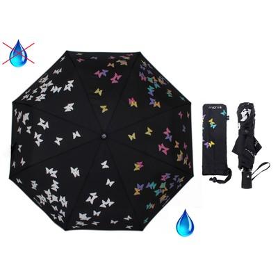 """Зонт полуавтоматический """"Вальс"""", R=50см, с проявляющимся рисунком, цвет чёрный"""