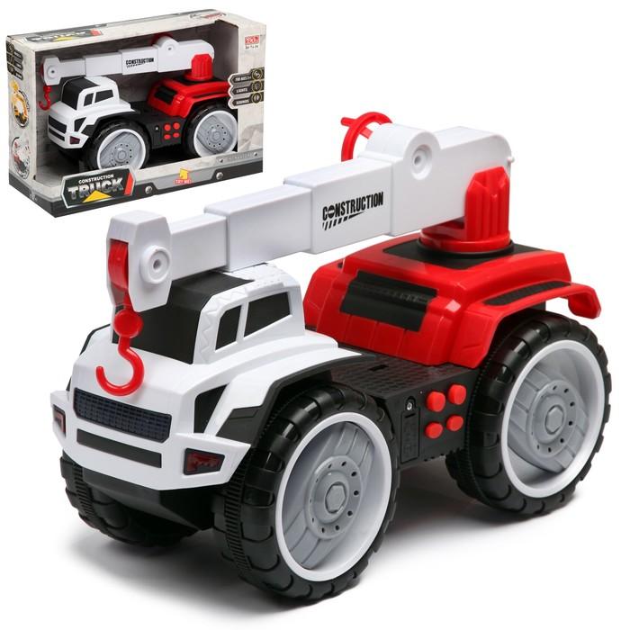 Машина инерционная «Кран», световые и звуковые эффекты