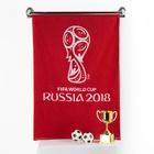 Полотенце махровое 70х130 см, цвет красный (400г/м2), 2018 FIFA World Cup Russia™