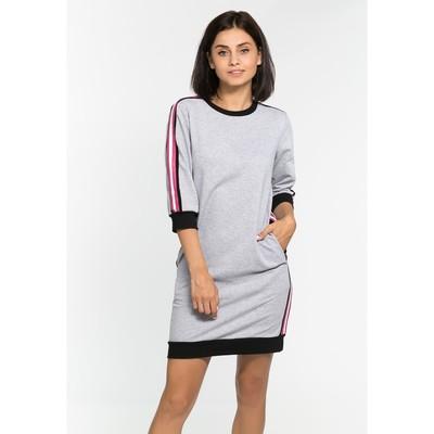 Платье с лампасами MINAKU, размер 44, цвет серый