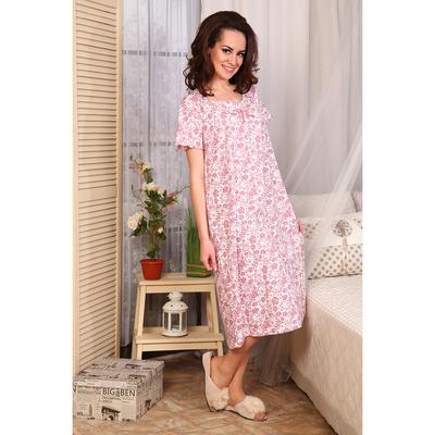 Сорочка женская 275 цвет розовый, р-р 58