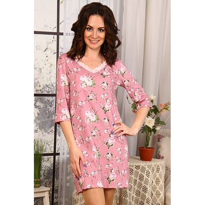 Сорочка женская 645 цвет розовый, р-р 44