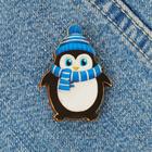 Значок деревянный «Север» (пингвин), 3.1 х 4.1 см
