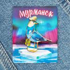 """Значок деревянный """"Мурманск"""" (чайка), 3,3 х 4,4 см"""