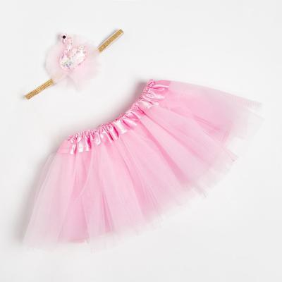 "Набор Крошка Я ""Лебедь"" юбка и повязка на голову 3-18 мес, розовый"