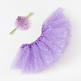 """Набор Крошка Я """"Звёздочка"""" юбка и повязка на голову 3-18 мес, фиолетовый"""