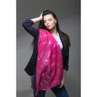 """Палантин Этель """"Воздушный"""", размер 70 х 180 см, цвет розовый/серебро"""
