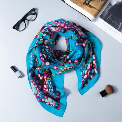 "Shawl womens ""Fashion Girl"", size 105*105cm, color: blue"
