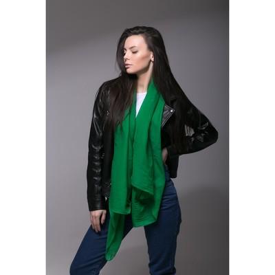 """Палантин Этель """"Классика"""", размер 70 х 180 см, цвет зелёный"""