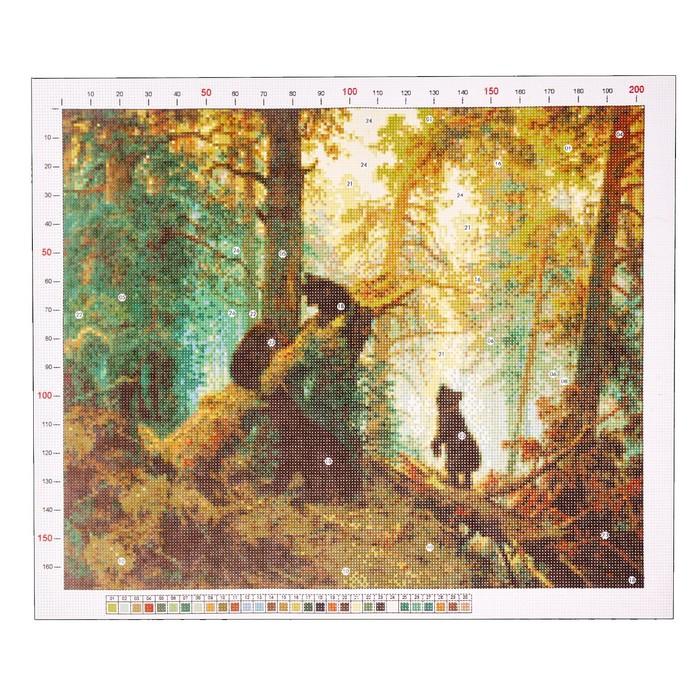 Канва для вышивания с рисунком «Шишкин. Утро в сосновом бору» 47 х 39 см