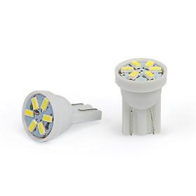 Лампа светодиодная KS, Т10 (W2,1-9,5d), 12 В белая, 6 SMD 1210 диодов малая б/цокольная Ош