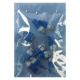 Лампа светодиодная KS, Т10 (W2,1-9,5d) 12 В, синяя, 5 SMD 5050 диод, б/цокольная Ош