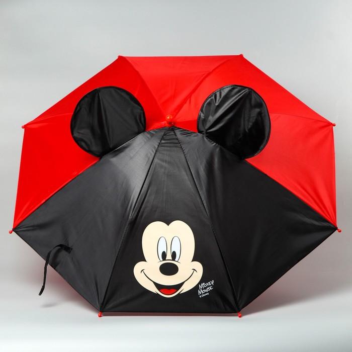 "Зонт детский ""Микки Маус"" 8 спиц d=70 см с ушами"