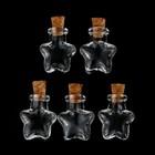 """Набор стеклянных бутылочек с пробкой """"Звезда"""" 5 шт, 6,5 мл - фото 8444324"""