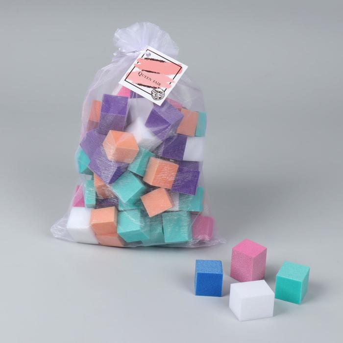 Мини-бафики для ногтей, 70 ± 10 шт, разноцветные