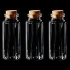 Набор стеклянных бутылочек с пробкой (3 шт) 3х7,5 см