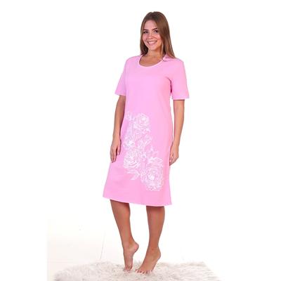 Сорочка женская 231 цвет розовый, р-р 60