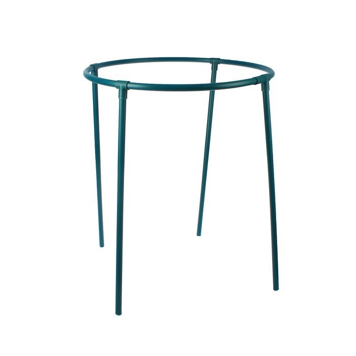 Кустодержатель, d = 65 см, h = 60 см, ножка d = 2 см, пластик, зелёный