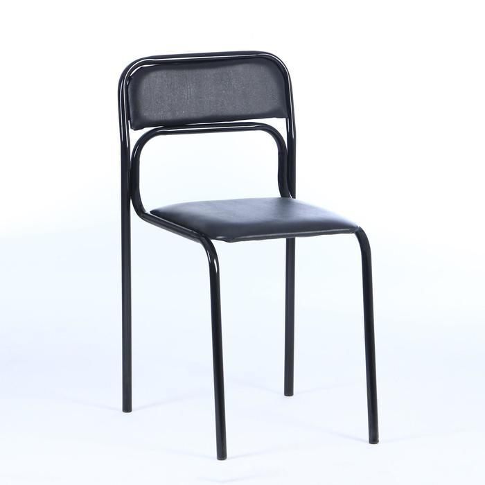 Стул SEVEN 06, каркас чёрный, экокожа чёрная