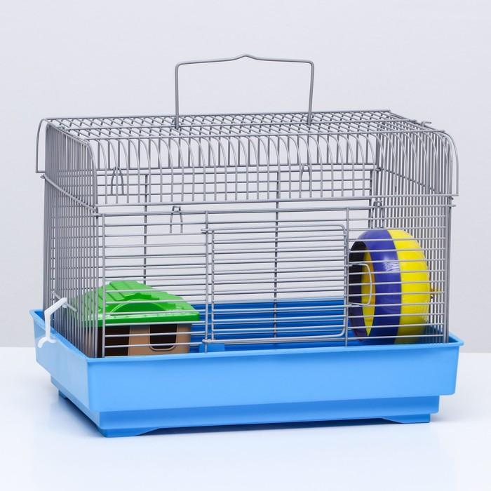 Клетка для грызунов, с наполнением, 32 х 22,5 х 23 см, микс