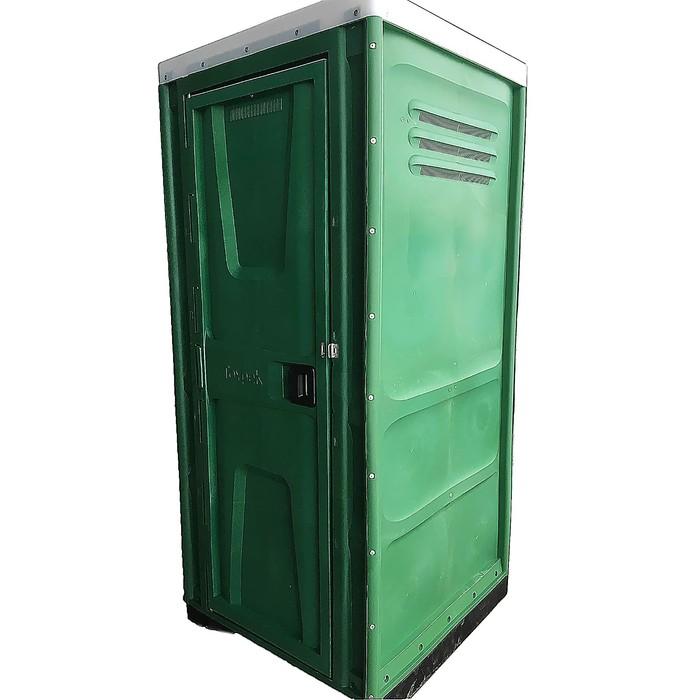 Туалетная кабина, разборная, зелёная