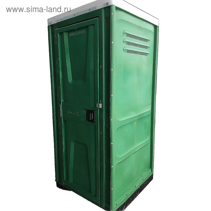 Туалетная кабина, разборная, цвет зеленый