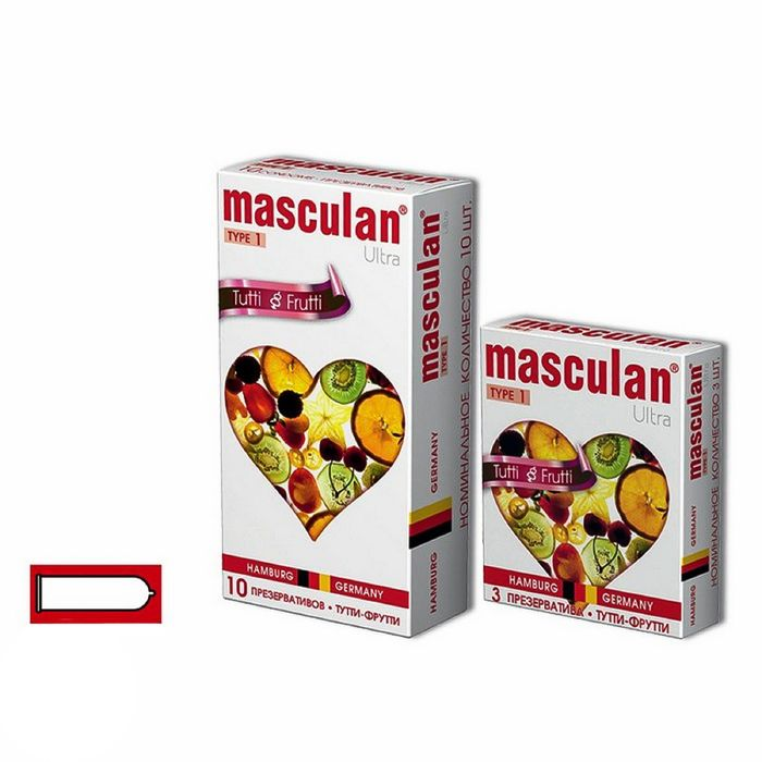 Презервативы Masculan Ultra 1 «Тутти-фрутти», 3 шт.