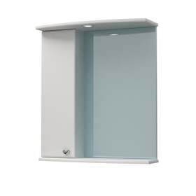 Шкаф-зеркало Крокус 50С белый левый