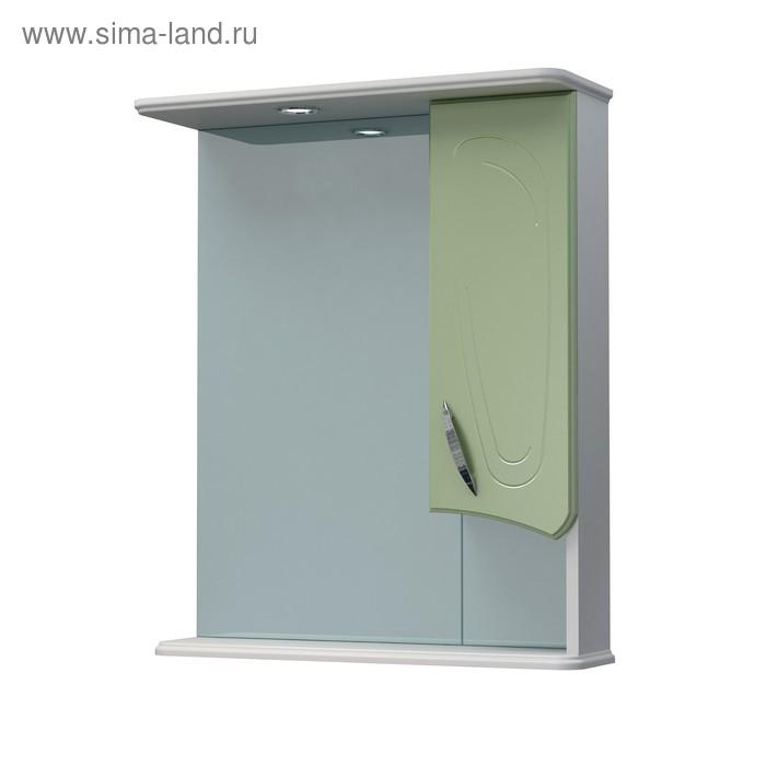 Шкаф-зеркало Палермо 60С фисташковый