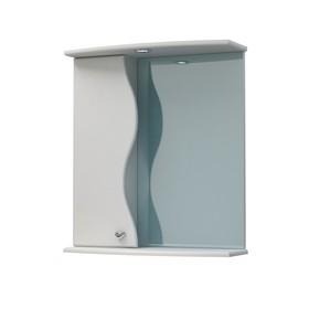 Шкаф-зеркало Флокс 60С белый левый