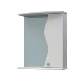 Шкаф-зеркало Флокс 60С белый правый