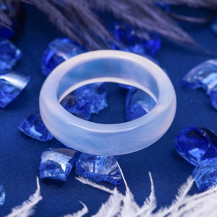 """Кольцо гладкое """"Лунный камень"""" 5мм, размер МИКС"""