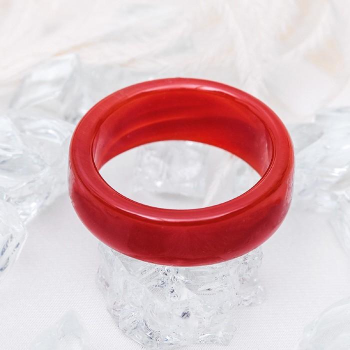 """Кольцо гладкое """"Агат коричневый"""" 8мм, размер МИКС ( с 17 по 20 размеры)"""