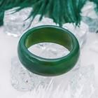 """Кольцо гладкое """"Агат тёмно-зелёный"""" 8мм, размер МИКС ( с 17 по 20 размеры)"""