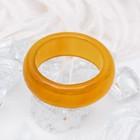 "Кольцо гладкое ""Агат жёлтый"" 8мм, размер МИКС ( с 17 по 20 размеры)"