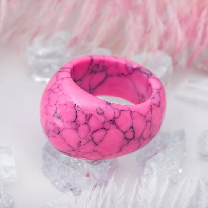 """Кольцо литое """"Агат розовый"""", размер МИКС"""