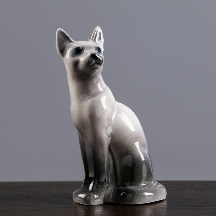 Статуэтка фарфоровая «Кошка Тайка», сиам, 10см