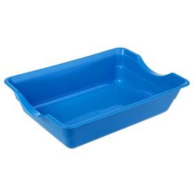 Туалет глубокий, без сетки, 36 х 26 х 9 см, синий микс - быстрая доставка