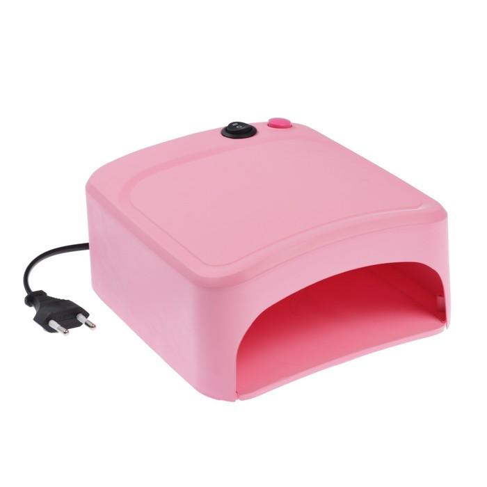 Лампа для гель-лака LuazON LUF-10, UV, 36 Вт, 220 В, розовая