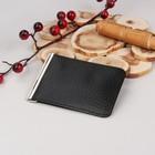 Зажим для денег, с металлическим держателем, отдел для монет, флотер/доллар, цвет чёрный