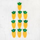Обучающие счёту элементы «Морковка» из фетра, размер 1 шт: 13 × 6,5 см - фото 105532837