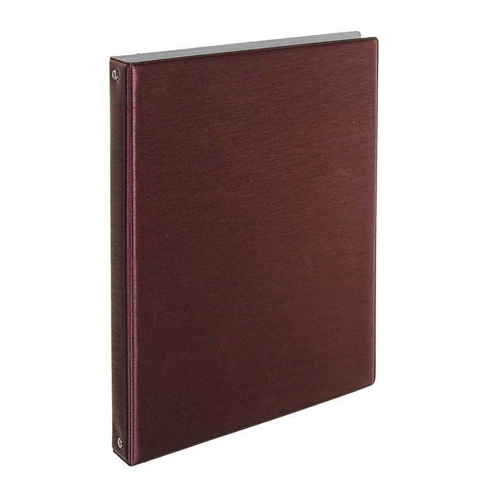 папка для меню на 4х кольцах А4 Xeleste бордовая